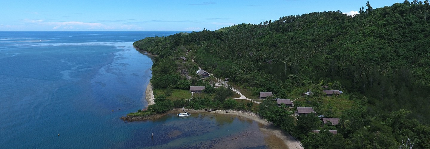 Weda Eco Resort and Coral Reef from above