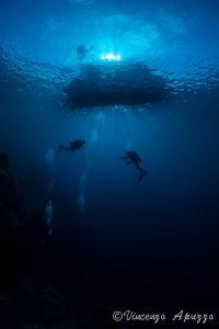 Divers with Weda Resort